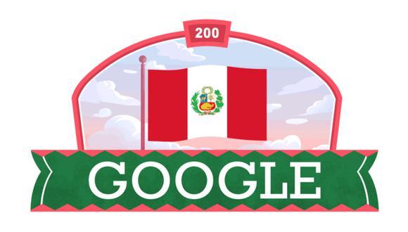 Doodle de Google por el Bicentenario. (Foto: Google)