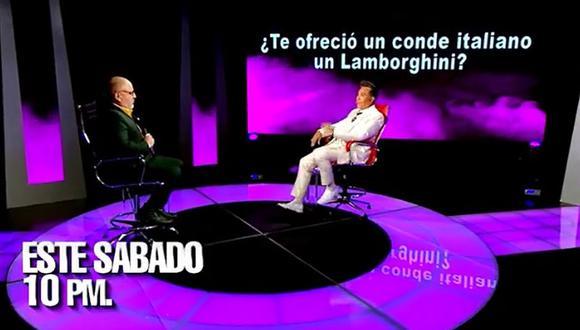 """""""El valor de la verdad"""": Jimmy Santi reveló que un conde italiano le ofreció un Lamborghini. (Foto: Captura de video)"""