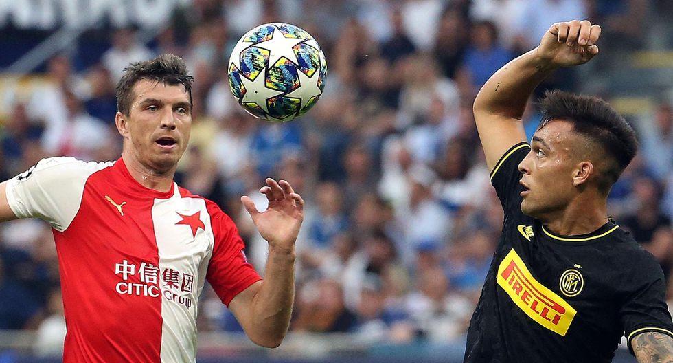 Inter vs. Slavia Praga: mejores imágenes del partido. (Foto: AFP)
