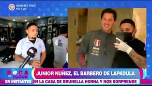 Barbero oficial de la selección peruana conoció a Gianluca Lapadula