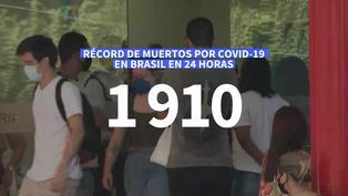 Nuevo récord de muertos por coronavirus en Brasil  1.910 en 24 horas