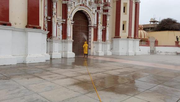 Lambayeque: municipio de Ferreñafe realizó campaña de desinfección en espacios públicos (Foto difusión).