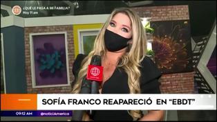 Sofía Franco reaparece como conductora de 'En boca de todos'
