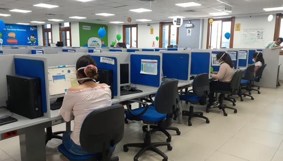 El local del call center ubicado en Cercado de Lima fue intervenido ayer por la PNP. (Foto: Konecta)
