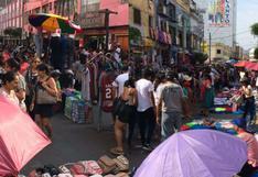 Gamarra: vías llenas de ambulantes en plena campaña de Navidad