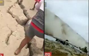 Fuerte sismo de 6.1 en Piura causa grieta y deslizamiento de arena
