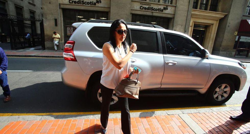 Nadine Heredia llegó al despacho de la fiscal Mori, del equipo especial Lava Jato (Foto: Hugo Curotto)