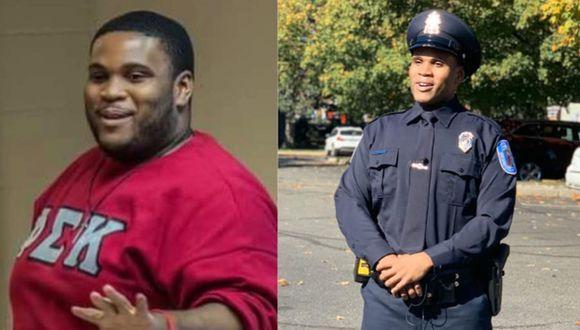 Un hombre perdió 80 kilos de peso para lograr su sueño de convertirse en policía   Foto: Facebook / Richmond Police Department