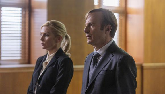 "En ""Better Call Saul"" 5x07,, Kim (Rhea Seehorn) y Jimmy (Bob Odenkirk) toman una decisión importante. Foto: AMC."