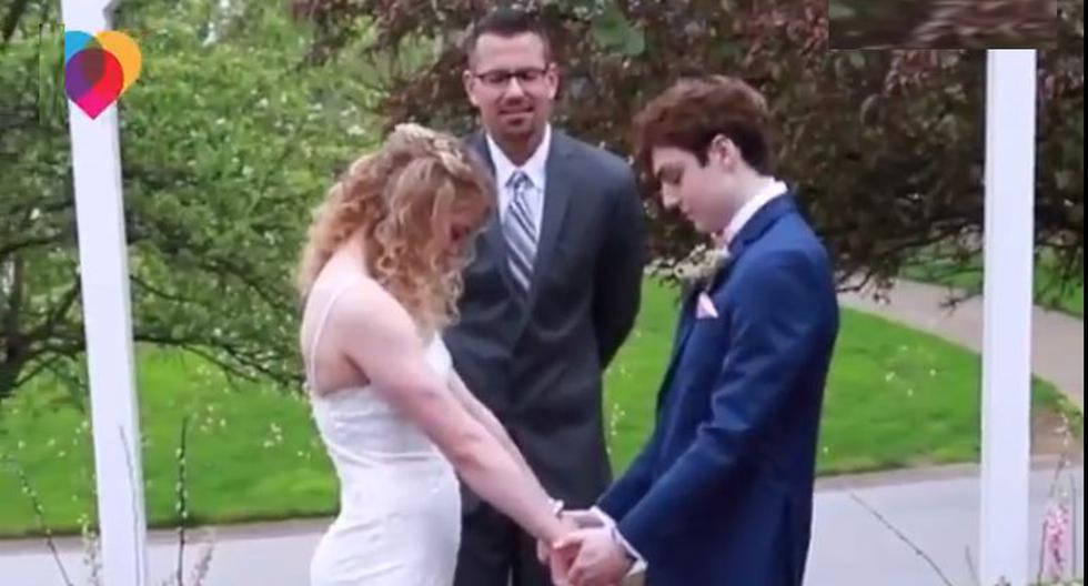 Pareja de jóvenes decide casarse luego que a él le queden 3 meses de vida. (Foto: Captura Facebook)