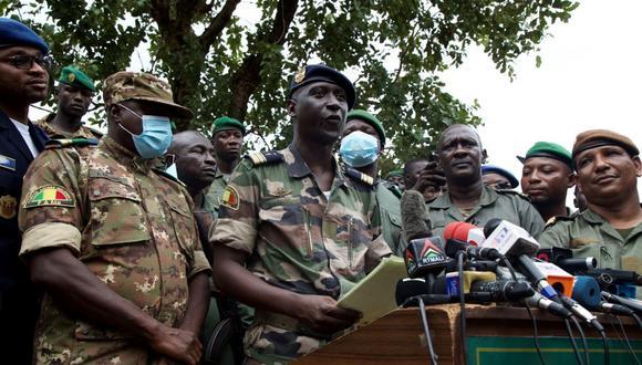 Los líderes golpistas en Malí enfrentaron una ola de presión internacional, luego de expulsar del porder al presidente de Malí, Ibrahim Boubacar Keita. (Foto: ANNIE RISEMBERG / AFP)