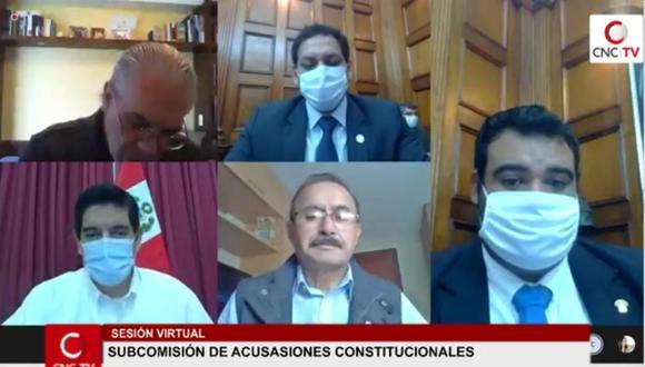 Subcomisión de Acusaciones Constitucionales sesionó por poco más de una hora. (Foto: Congreso TV)