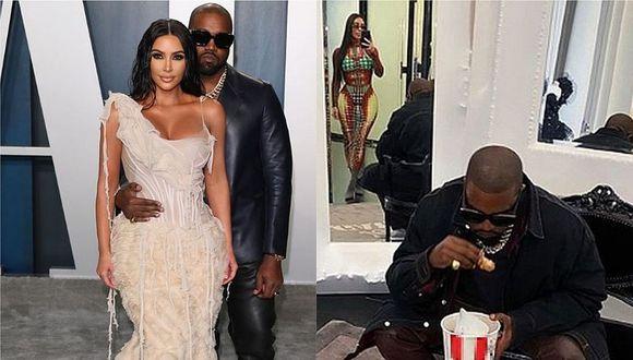 Sin deja el glamour de lado, Kim Kardashian llegó con Kanye West a un conocido local de comida rápida. (Foto: Instagram)
