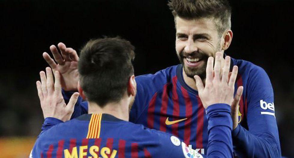 Lionel Messi y Gerard Piqué le dieron algunos consejos al grupo para el segundo tiempo del duelo ante Inter de Milán. (Foto: AFP)