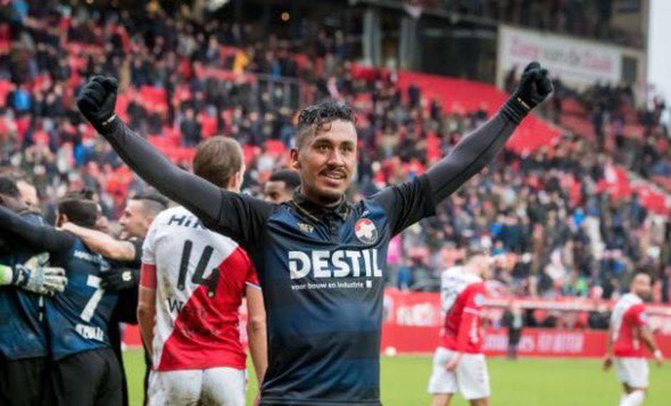 Renato Tapia, por ahora, solo conoce de alegrías en su estancia con Willem II. Desde que llegó, el cuadro tricolor ha sumado tres victorias al hilo. (Foto: Twitter)