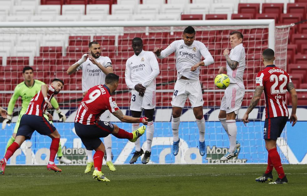 Real Madrid enfrentó al Atlético de Madrid por LaLiga