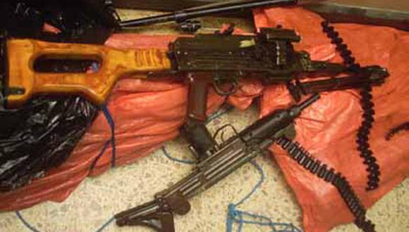 Ejército recuperó gran cantidad de armamento y municiones