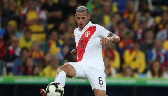 Miguel Trauco confía en que la selección peruana cortará la mala racha en las Eliminatorias.  REUTERS/Ricardo Moraes