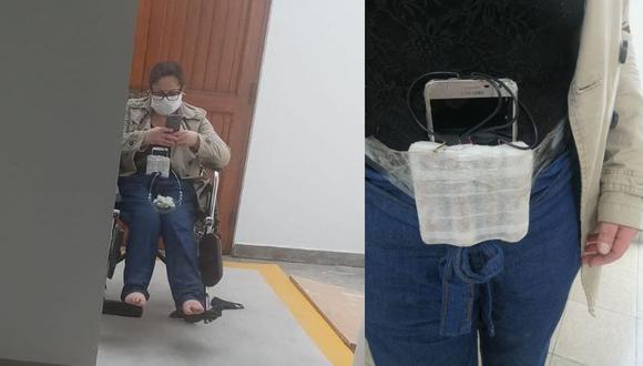 Raquel Milagritos León Goicochea fue detenida cuando pretendía huir tras asaltar la clínica Anglo Americana. (Foto: Policía Nacional).