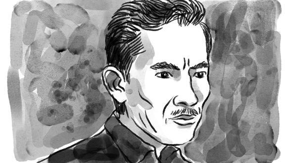 Ilustración de Teodoro Villanueva, homicida del menor de 4 años (Crédito: Víctor Aguilar Rúa)