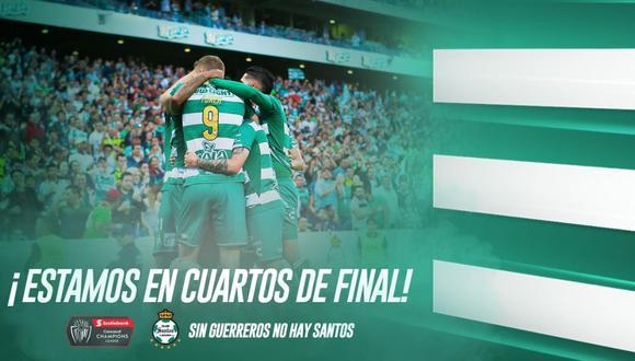 Santos Laguna goleó 5-0 a Marathón y clasificó a los cuartos de final de la Conchachampions 2019.   Foto: Santos