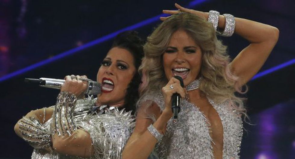 """Gloria Trevi y Alejandra Guzmán comparten escenario en """"Versus"""". (Foto: Agencia)"""