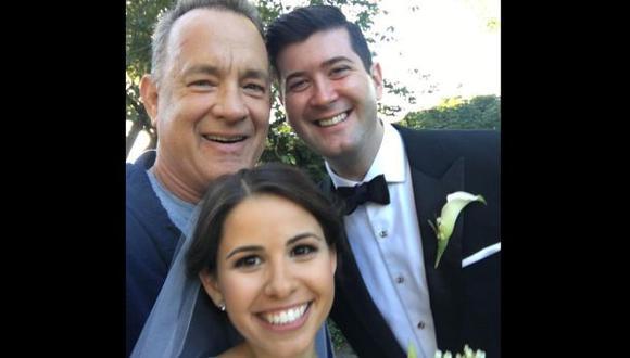 Tom Hanks se vuelve protagonista de una boda [VIDEO]