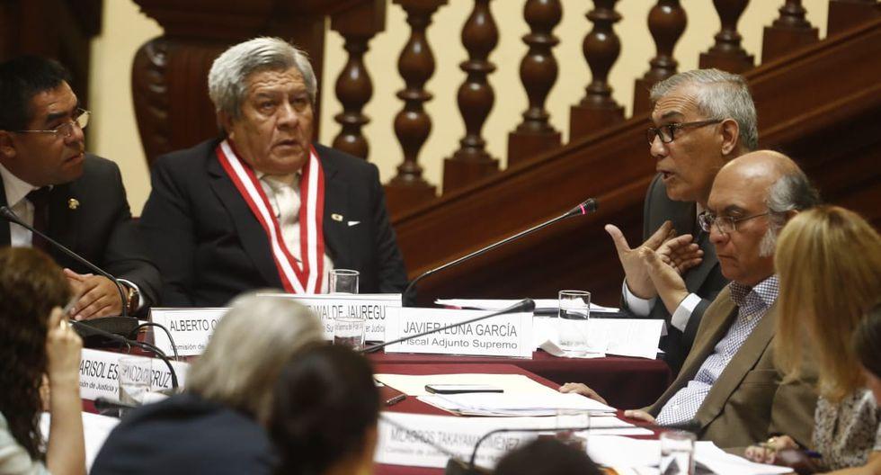 El juez supremo Vicente Walde Jáuregui intervino este jueves en la Comisión de Justicia del Congreso. (Foto: César Campos/GEC)