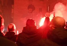 La ciudad de Nápoles devastada por la muerte de su ídolo Diego Armando Maradona | FOTOS