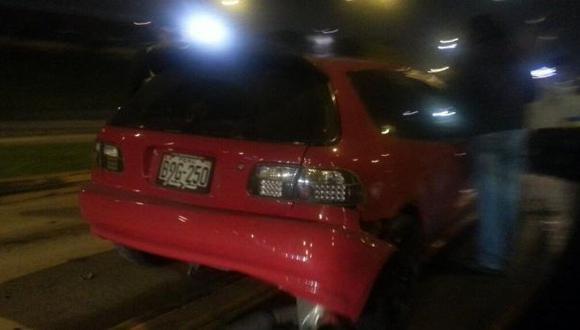 Accidente de tránsito interrumpió vía del Metropolitano