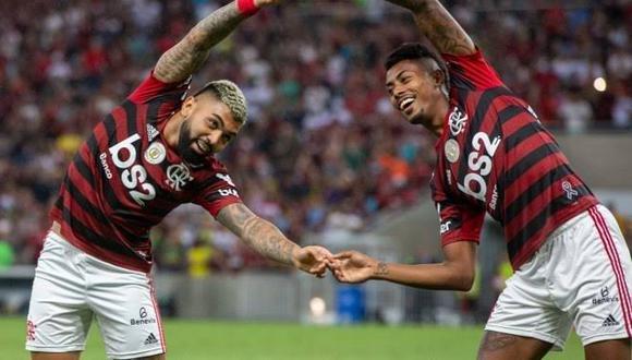 Gabriel Barbosa y Bruno Henrique han marcado 12 goles en la Copa Libertadores 2019. Serán el arma en ataque del Flamengo en la final ante River Plate. (Foto: AFP)