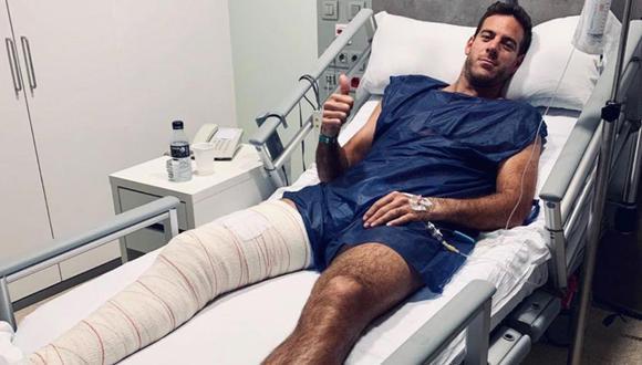 Juan Martín del Potro fue intervenido en sala de operaciones por una fractura en la rótula derecha. El argentino afirmó que la operación fue un éxito y se encuentra en proceso de recuperación (Foto: Instagram)