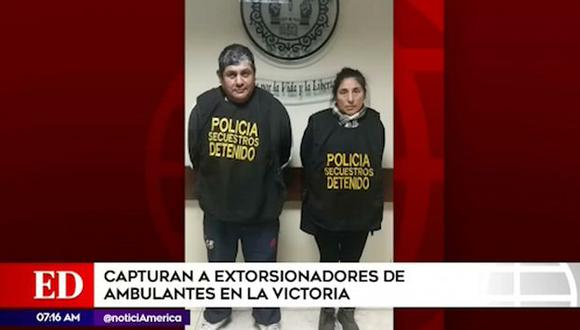Ellos fueron intervenidos cerca al cruce de las Avenidas Nicolás Ayllón con Nicolás Raimondi en flagrancia. (América Tv)