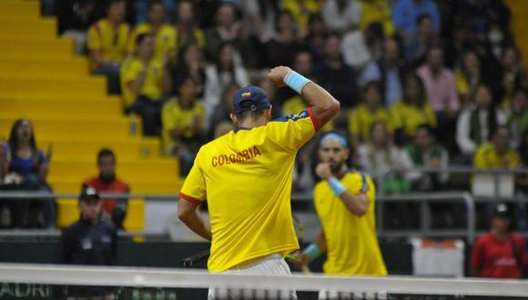 Colombia vs. Suecia EN VIVO: el cuadro cafetero logró el tercer punto gracias a la victoria de la dupla Cabal y Farah sobre Lindstedt y Eriksson. (Foto: Fedecoltenis).