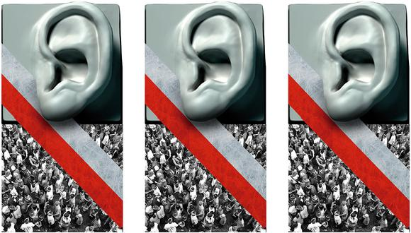 """""""En vista de que el 'pueblo' no es sino la suma de individuos, las preferencias que recogen las encuestas de opinión serían lo más cercano a esa idealizada voz popular que dice escuchar el gobierno"""". (Ilustración: Giovanni Tazza)."""