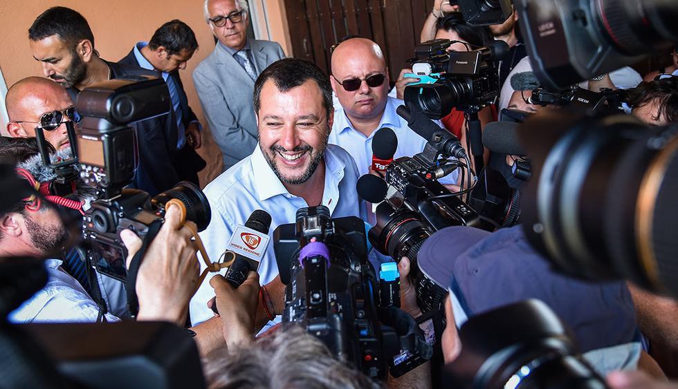 Ministro italiano del Interior, Matteo Salvini, protesta ante Francia y Alemania por las políticas migratorias en la Unión Europea. ](Foto: AFP)