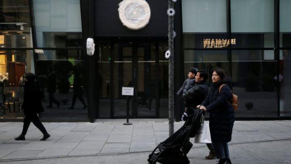 La apertura de la primera tienda de Canada Goose en China se postergó indefinidamente. (Reuters)