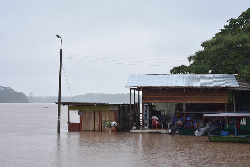 Más de 10 horas seguidas de intensas lluvias, que iniciaron anoche en las cabeceras (nacientes) del rio Inambari (en la frontera de las regiones de Cusco, Puno y Madre de Dios), originaron el aumento de caudal de los ríos Madre de Dios y Tambopata y su posterior desborde. (Foto: Manuel Calloquispe)