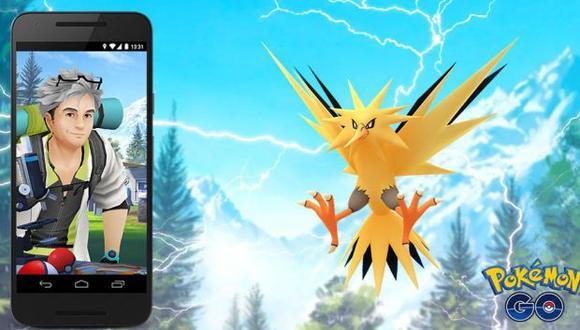 Zapdos volverá al videojuego. (Foto: Pokémon Go)