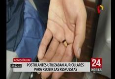 UNI: postulantes usaban pequeños auriculares para recibir respuestas durante examen de admisión