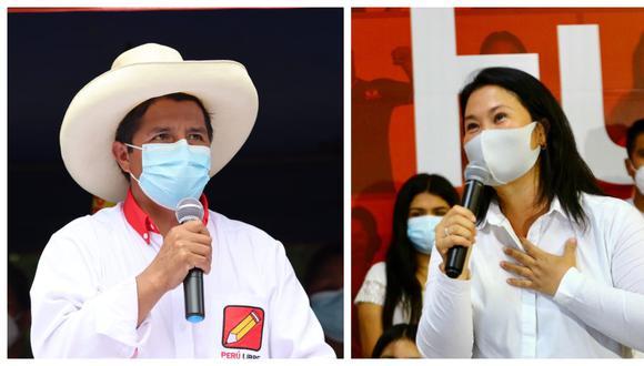 Castillo y Fujimori se encuentran en una etapa de la campaña electoral en la que los deslindes y apoyos juegan un rol importante de cara a la opinión pública. (Fotos:  Perú Libre / Archivo El Comercio)