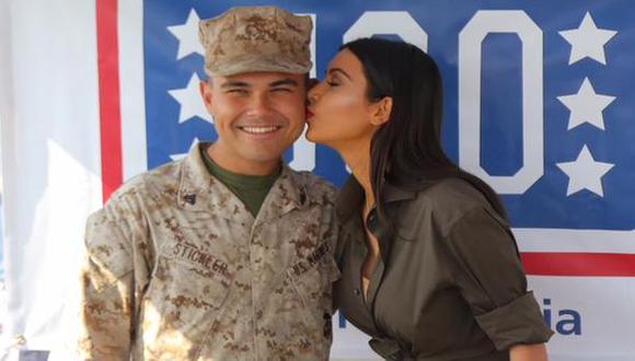 Kim Kardashian alborotó base naval de EE.UU. en Abu Dhabi