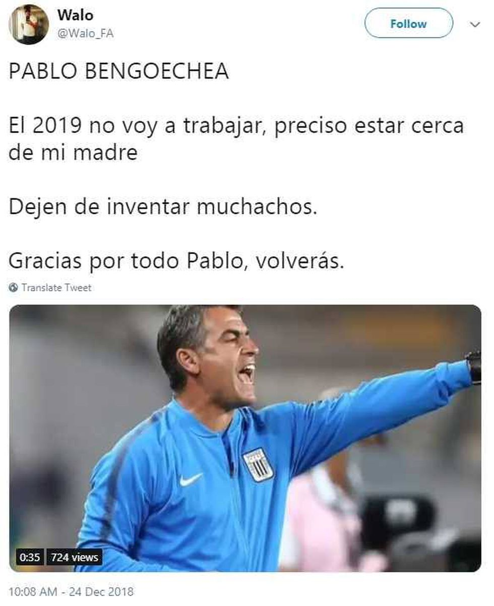 Usuario de Twitter publicó el audio de Pablo Bengoechea, pero lo borró por ser privado. (Foto: captura)