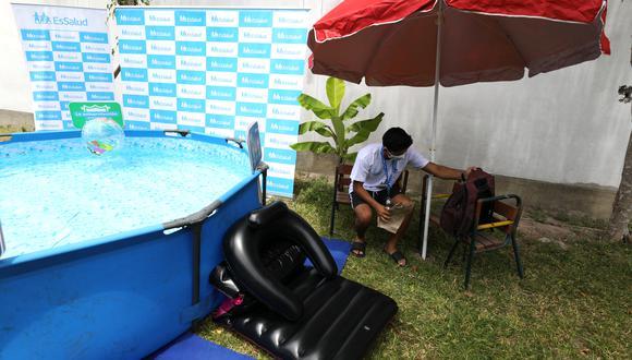 EsSalud advierte que inadecuado uso y desinfección de piscinas inflables produce infecciones respiratorias y estomacales  (Foto: EsSalud)