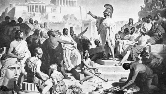 Pericles, dando uno de sus discursos. (Foto: Getty)