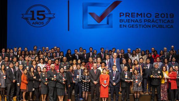 En el 2019, la ceremonia del Premio Buenas Prácticas de Gestión Pública se realizó en el Gran Teatro Nacional de San Borja (Foto: Andina)