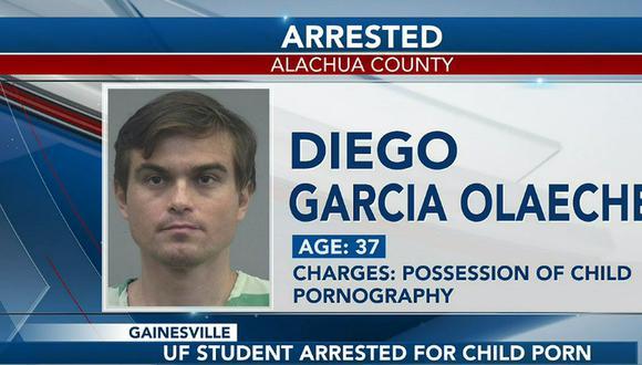 El Departamento de Policía de Gainesville indicó que se trata del peruano Diego García Olaechea. Según informó el canal de televisión WCJB. (Foto: captura WCJB).