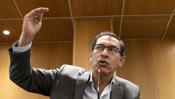 Mandatario Martín Vizcarra, se pronunció sobre el incendio en el bus interprovincial de la empresa de transportes Sajy. (Foto: GEC)
