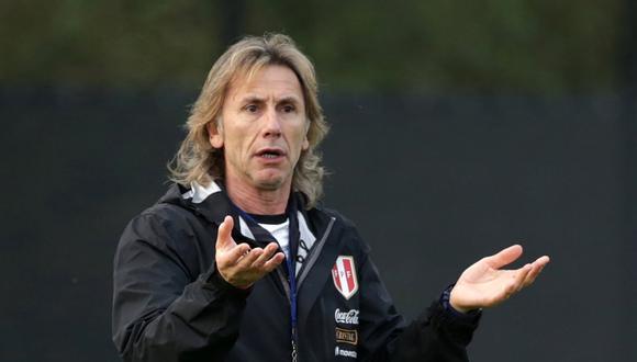 Ricardo Gareca tiene contrato con la selección peruana hasta el año 2021. (Foto: AFP).
