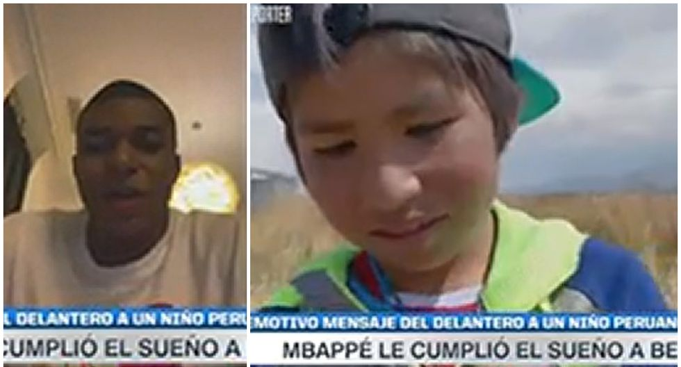 Kylian Mbappé envió saludos a niño peruano (Canal +)